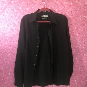 Calvin Klein L Slim Fit Pinstripe Long Sleeve